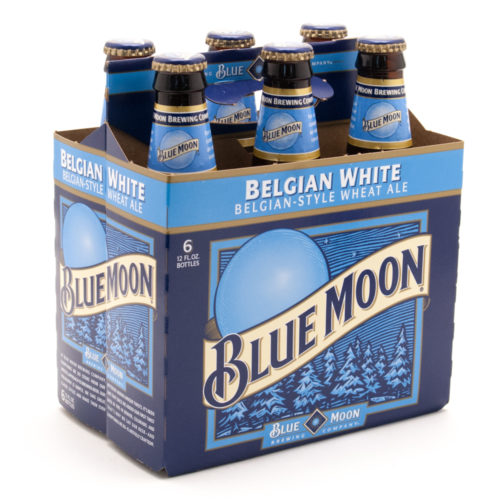 Blue Moon elgian White Wheat Ale - 6 Pack